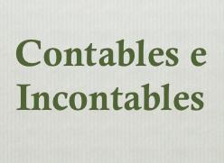 contables e incontables en inglés
