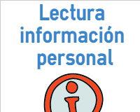 Ejercicio de lectura información personal