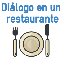 Diálogo en inglés en un restaurante